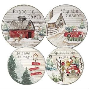 Home For Christmas Range Clean Burner Covers